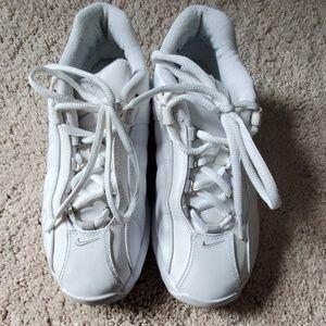 Women's white Nike training shoes